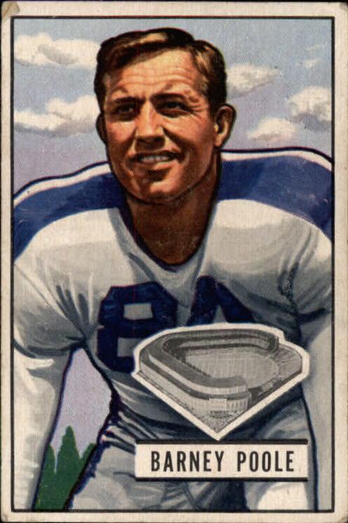 1951 Bowman #9 Barney Poole