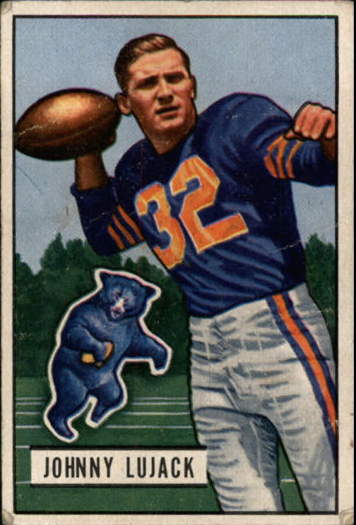 1951 Bowman #15 Johnny Lujack
