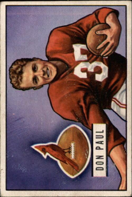 1951 Bowman #30 Don Paul DB RC