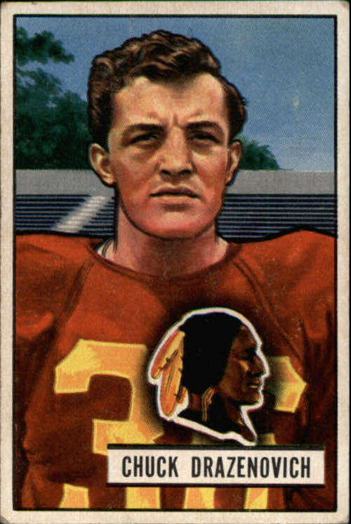 1951 Bowman #35 Chuck Drazenovich RC
