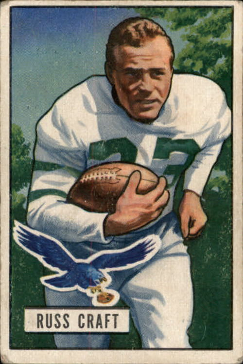 1951 Bowman #47 Russ Craft RC