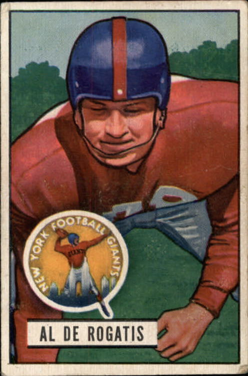 1951 Bowman #55 Al DeRogatis RC