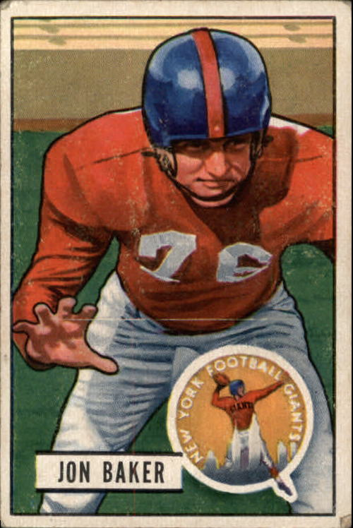 1951 Bowman #57 Jon Baker RC