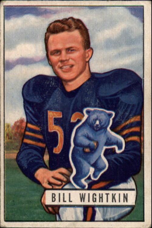 1951 Bowman #122 Bill Wightkin