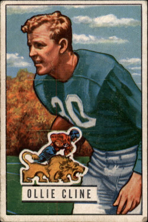 1951 Bowman #134 Ollie Cline RC