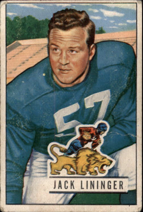 1951 Bowman #135 Jack Lininger RC