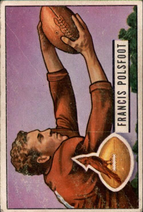 1951 Bowman #136 Fran Polsfoot RC