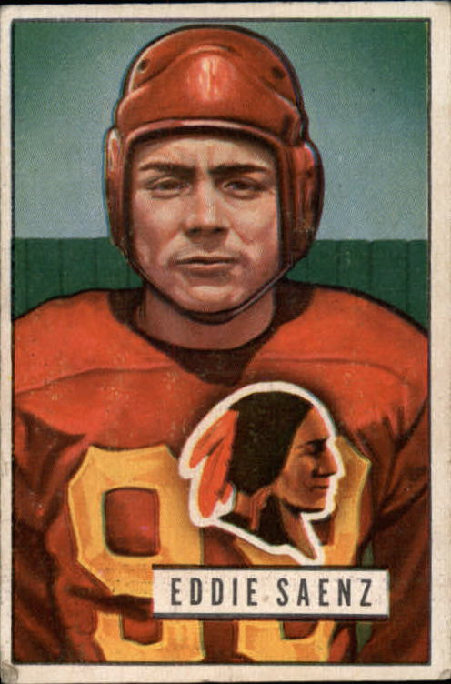 1951 Bowman #142 Eddie Saenz RC