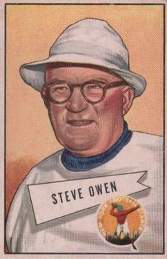 1952 Bowman Large #4 Steve Owen CO RC