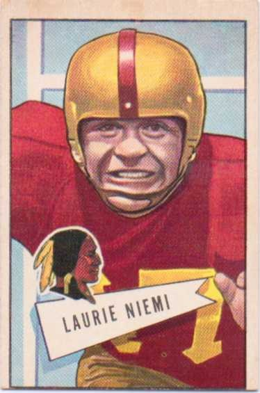 1952 Bowman Large #6 Laurie Niemi RC