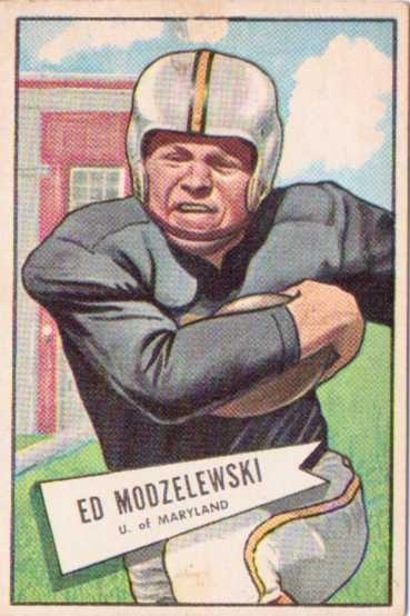 1952 Bowman Large #8 Ed Modzelewski