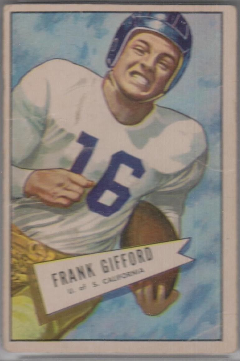 1952 Bowman Large #16 Frank Gifford RC