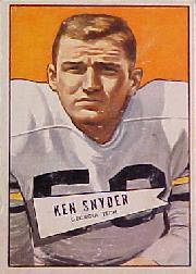 1952 Bowman Large #22 Kenneth Snyder RC
