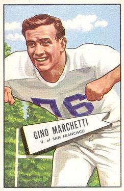 1952 Bowman Large #23 Gino Marchetti RC