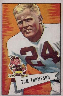 1952 Bowman Large #26 Tommy Thompson LB RC