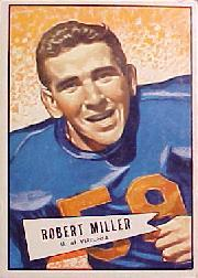 1952 Bowman Large #27 Bob Miller SP RC