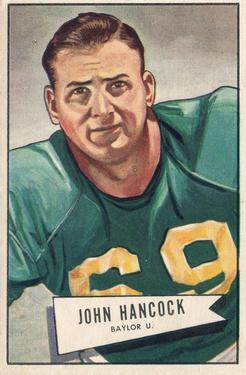 1952 Bowman Large #36 John Hancock SP RC
