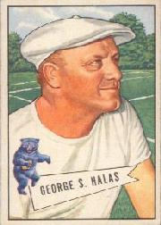 1952 Bowman Large #48 George Halas CO RC