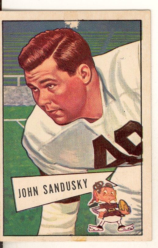 1952 Bowman Large #50 John Sandusky RC