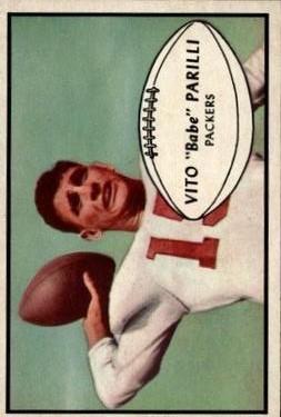 1953 Bowman #3 Babe Parilli