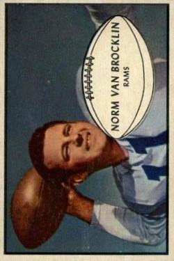 1953 Bowman #11 Norm Van Brocklin