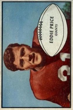 1953 Bowman #16 Eddie Price