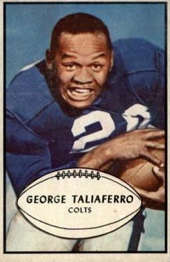 1953 Bowman #19 George Taliaferro