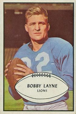 1953 Bowman #21 Bobby Layne