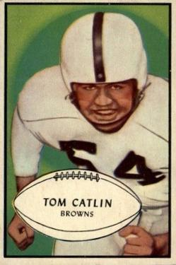 1953 Bowman #35 Tom Catlin RC