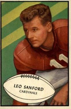 1953 Bowman #39 Leo Sanford SP RC