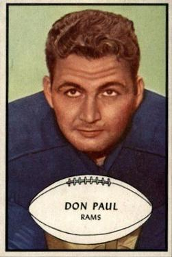 1953 Bowman #47 Don Paul LB SP RC