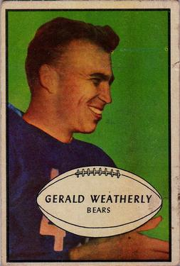 1953 Bowman #48 Gerald Weatherly RC