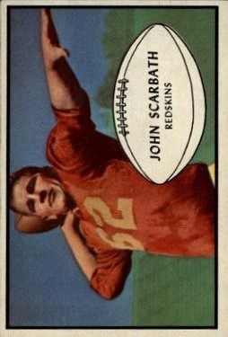 1953 Bowman #50 Jack Scarbath RC