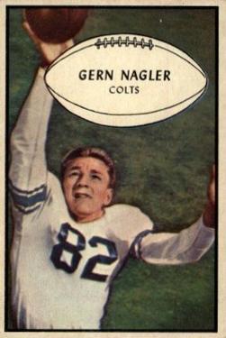 1953 Bowman #54 Gern Nagler SP RC