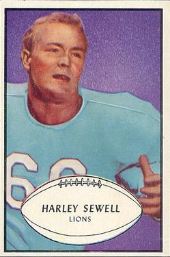 1953 Bowman #58 Harley Sewell SP RC