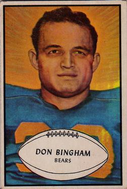 1953 Bowman #59 Don Bingham RC
