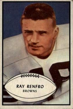 1953 Bowman #62 Ray Renfro SP RC