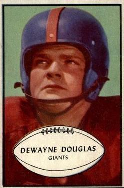 1953 Bowman #65 Dewayne Douglas RC