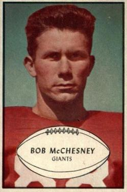 1953 Bowman #67 Bob McChesney SP RC