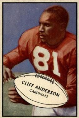 1953 Bowman #72 Cliff Anderson RC