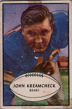 1953 Bowman #75 John Kreamcheck SP RC