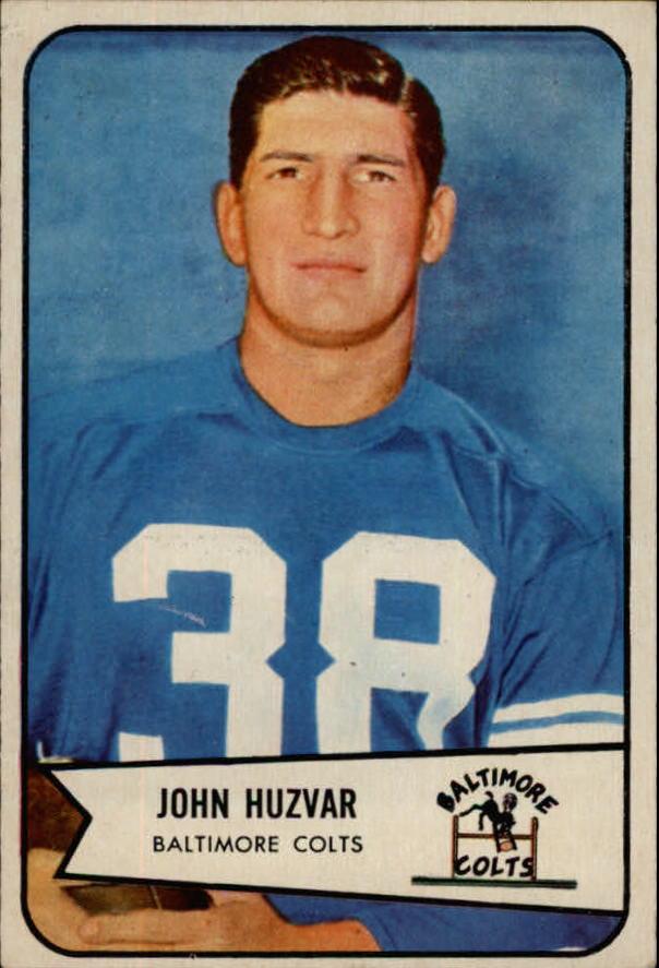 1954 Bowman #2 John Huzvar RC