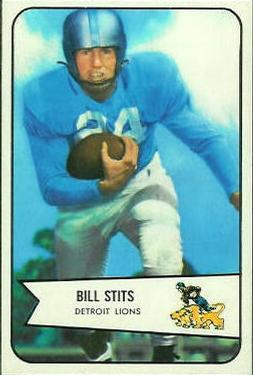 1954 Bowman #5 Bill Stits RC