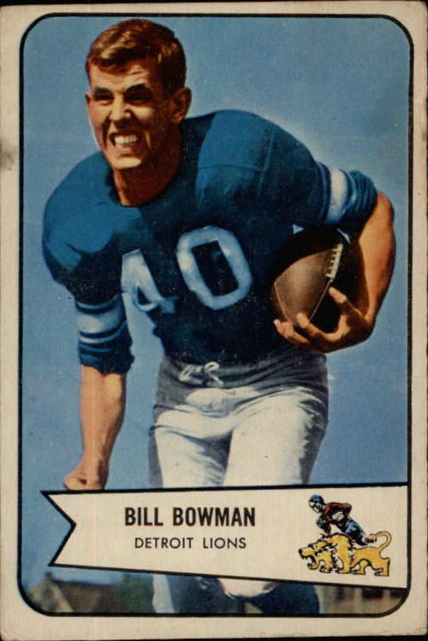 1954 Bowman #17 Bill Bowman RC