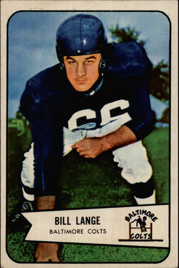 1954 Bowman #62 Bill Lange G RC