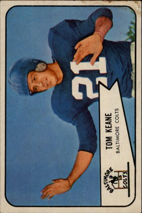 1954 Bowman #72 Tom Keane SP RC