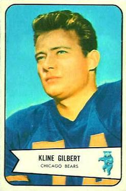 1954 Bowman #123 Kline Gilbert RC