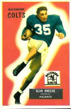 1955 Bowman #8 Alan Ameche RC