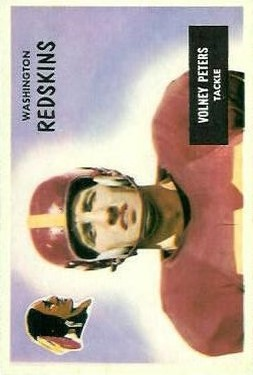 1955 Bowman #17 Volney Peters RC