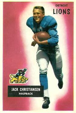 1955 Bowman #28 Jack Christiansen